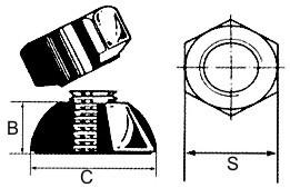 5 Stück Abreissmuttern A2 M12