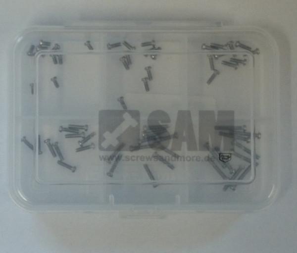 M1,6 Linsenkopfschrauben Set 60 Teile DIN 7985 A2 TORX