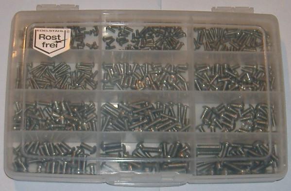 M3/M4/M5 Innensechskantschrauben Set 500 Teile ISO 7380 A2