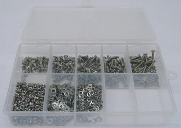 M2,5 Senkkopfschrauben Set 800 Teile DIN 965 A2 TORX