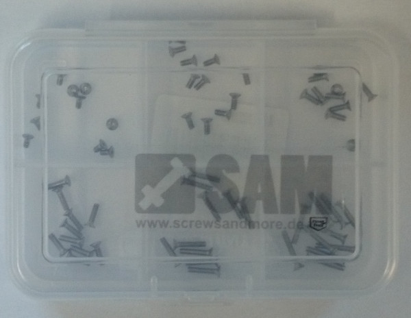 M1,6 Senkkopfschrauben Set 60 Teile DIN 965 A2 TORX