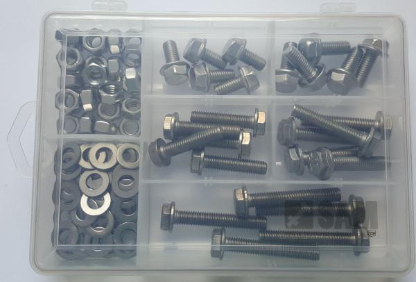 M8 Sechskantschrauben Set 100 Teile DIN 6921 A2