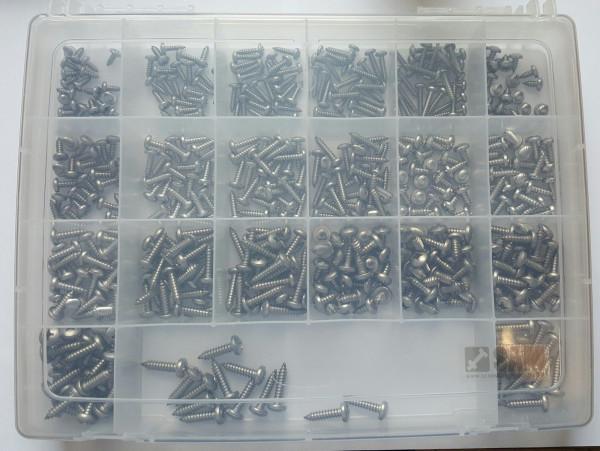 4,2-6,3er Blechschrauben Set 500 Teile DIN 7981 A2