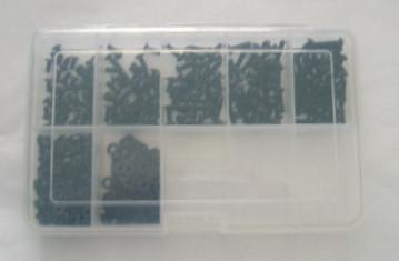 M4 Innensechskantschrauben Set 300 Teile ISO 7380 A2 SCHWARZ