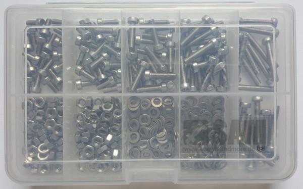 M4 Zylinderkopfschrauben Setbox 400 Teile ISO 14580 A2