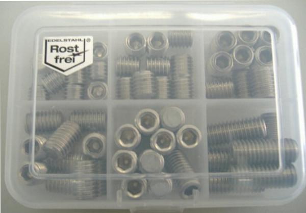 M8 Madenschrauben Set 56 Teile DIN 914 A2