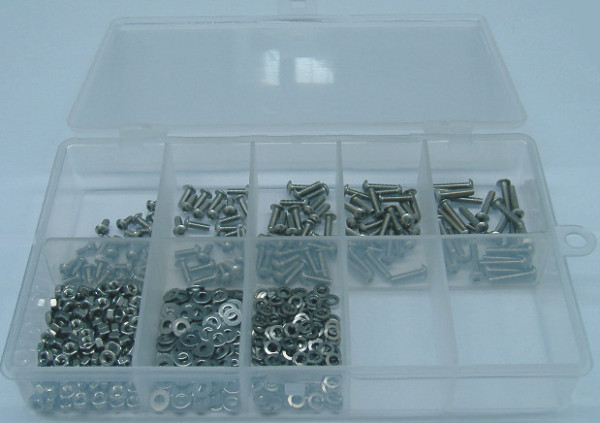 M2 Innensechskantschrauben Set 500 Teile ISO 7380 A2