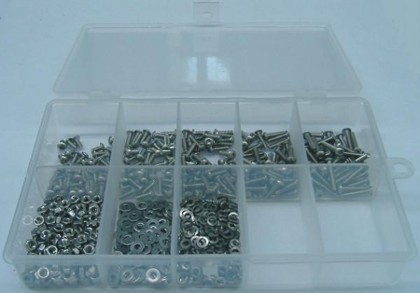 M2 Linsenkopfschrauben Set 800 Teile DIN 7985 A2 TORX
