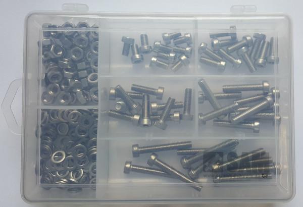 M6 Zylinderkopfschrauben Setbox 200 Teile ISO 14580 A2