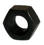 10 Stück Sechskantmuttern DIN 934 A2 M8 SCHWARZ