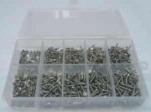 2,2/2,9er Blechschrauben TORX Set 250 Teile DIN 7982 A2