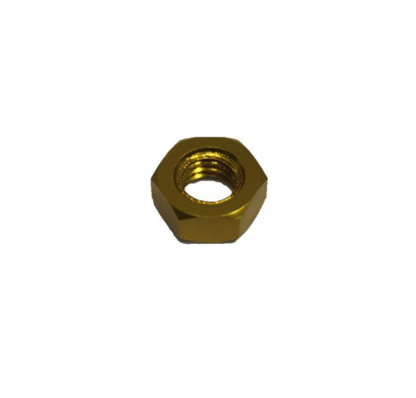 10 Stück DIN 934 Aluminium 6061 eloxiert M4 GOLD