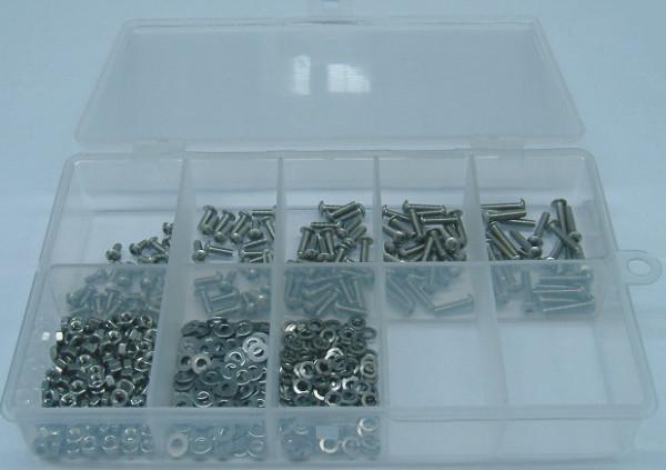 M2,5 Innensechskantschrauben Set 500 Teile ISO 7380 A2
