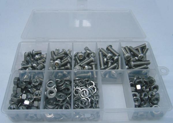M6 Innensechskantschrauben Set 400 Teile ISO 7380 A2