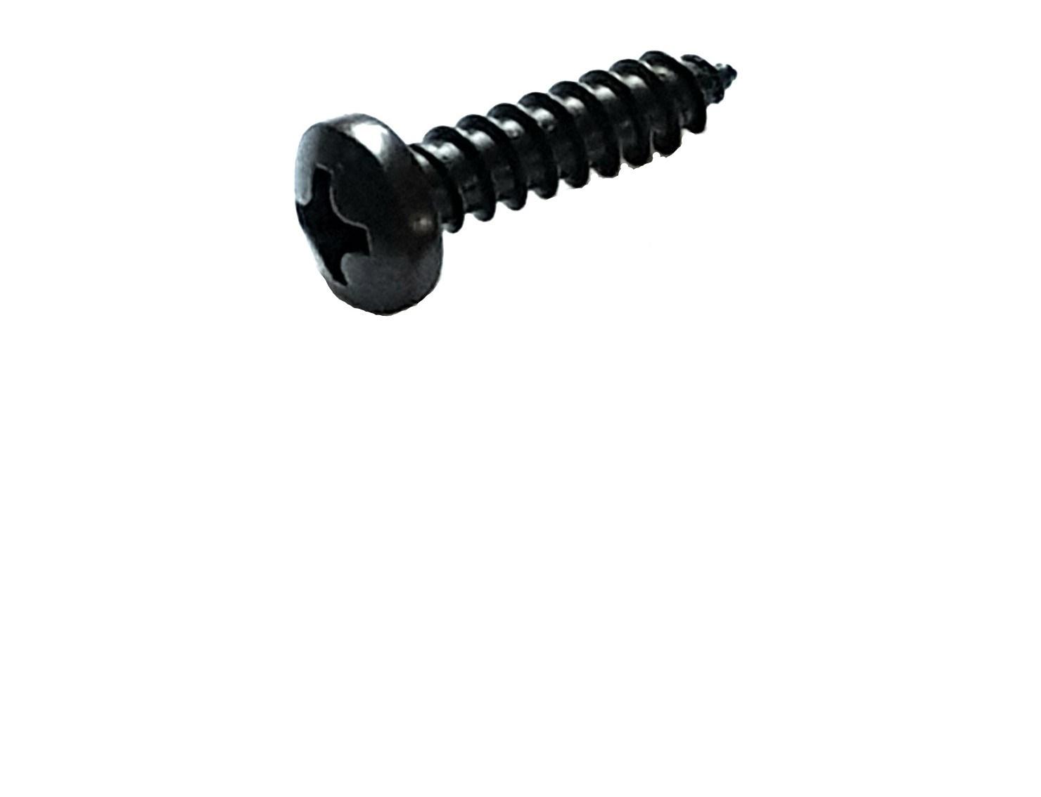 Blechschrauben mit Linsenkopf und Bund 3,5-4,8 schwarz verzinkt ähnl DIN 7981