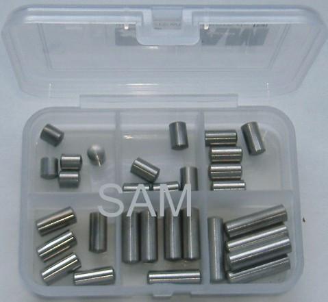8mm Zylinderstifte Set 30 Teile DIN 7 A1