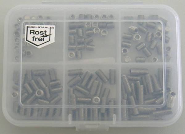 M4 Madenschrauben Set 150 Teile DIN 914 A2