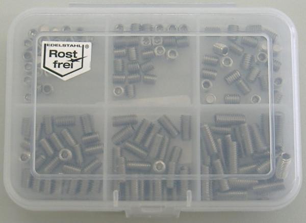 M6 Madenschrauben Set 140 Teile DIN 914 A2