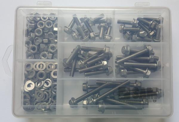 M6 Sechskantschrauben Set 200 Teile DIN 6921 A2